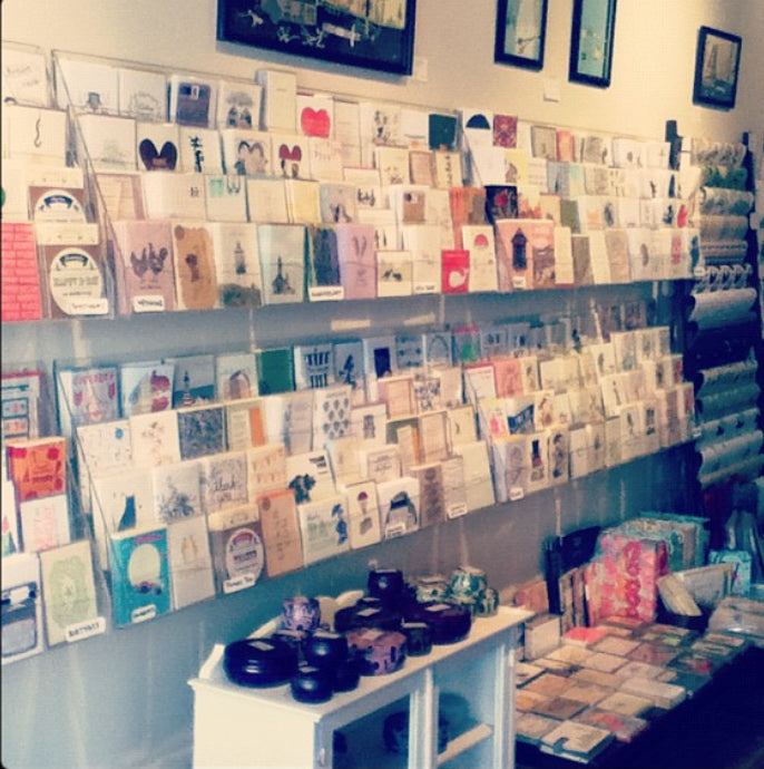 A nostalgic photo of Scout's card wall in 2012.