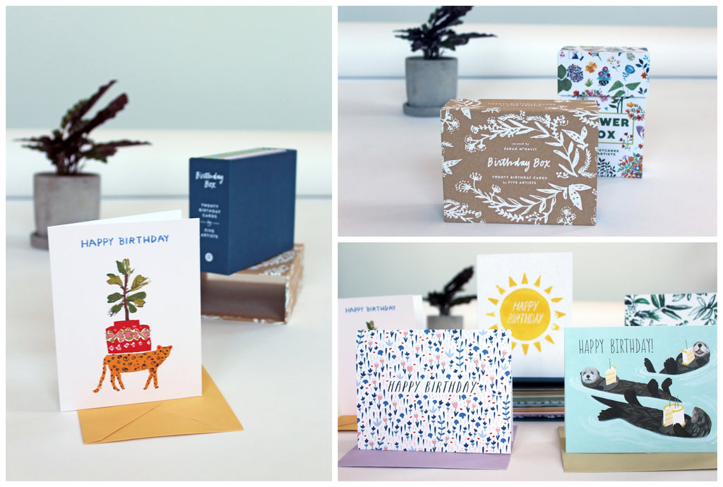 Product shots of the Birthday Box by Brown Paper Bag