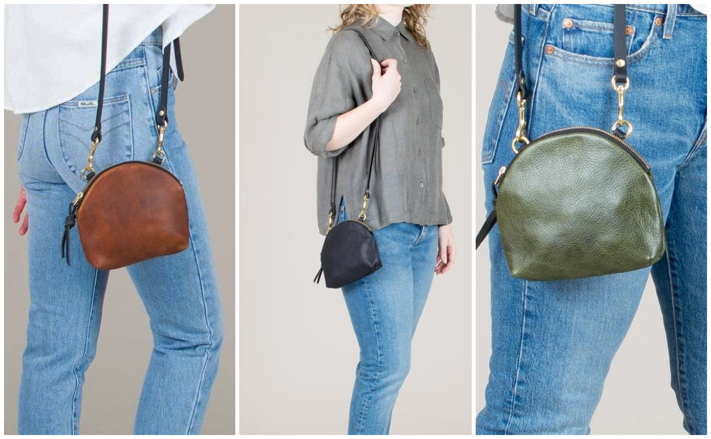Three different angles of the Anni Mini Mini Bag from Eleven Thirty, available at Scout in Toronto
