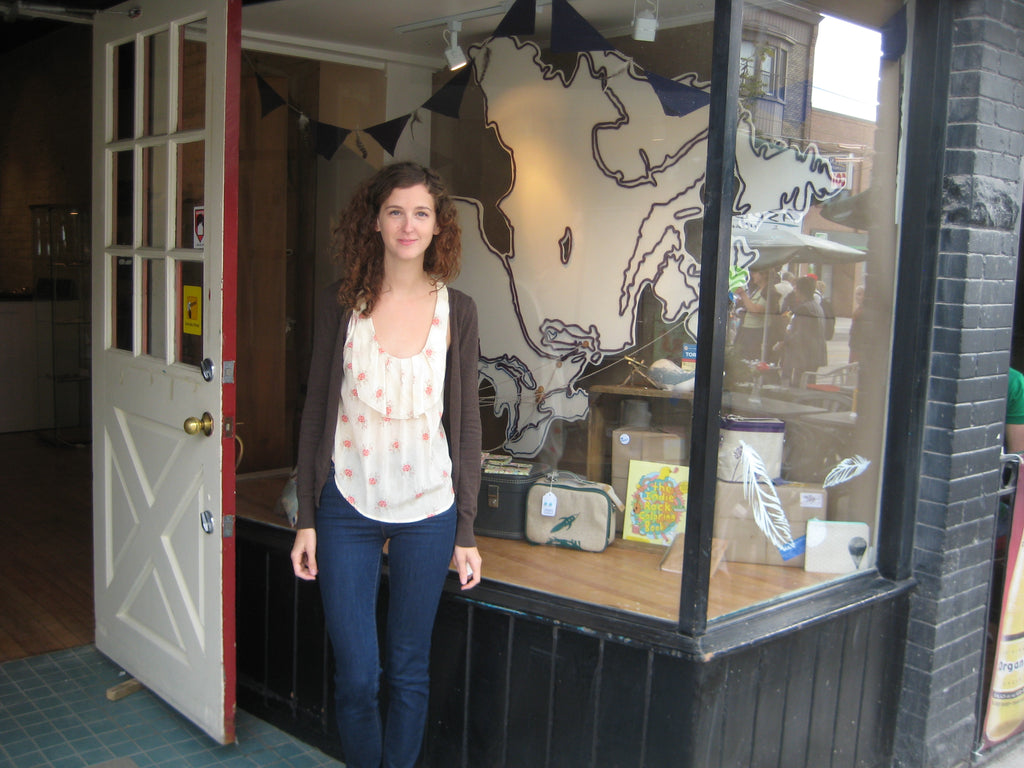 Young Leah Eyles is pictured in front of Scout in her first year of business in 2011.