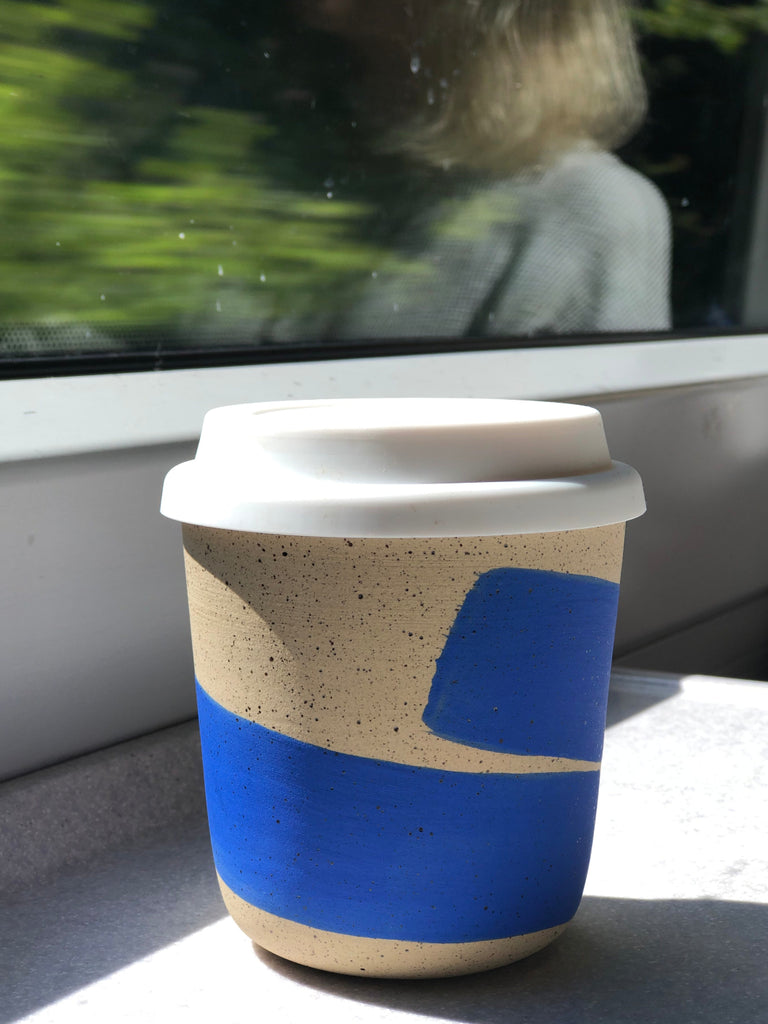 Ceramic travel mug making its rounds with Shayna in Scotland