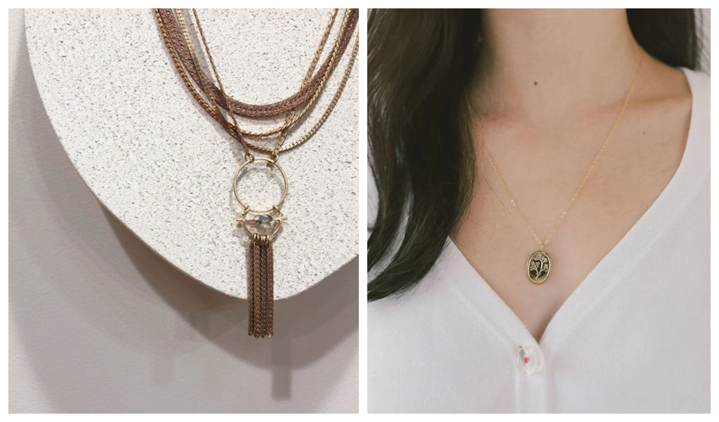 Canadian-made necklaces from designers Hailey Gerrits and Wolf Circus available at Scout Toronto