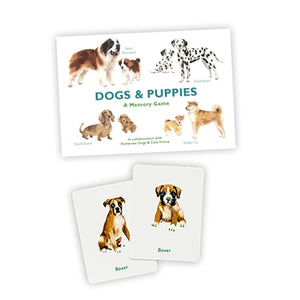 Dogs + Puppies Memory Game