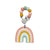 Silicone Pastel Rainbow Teether W/Clip