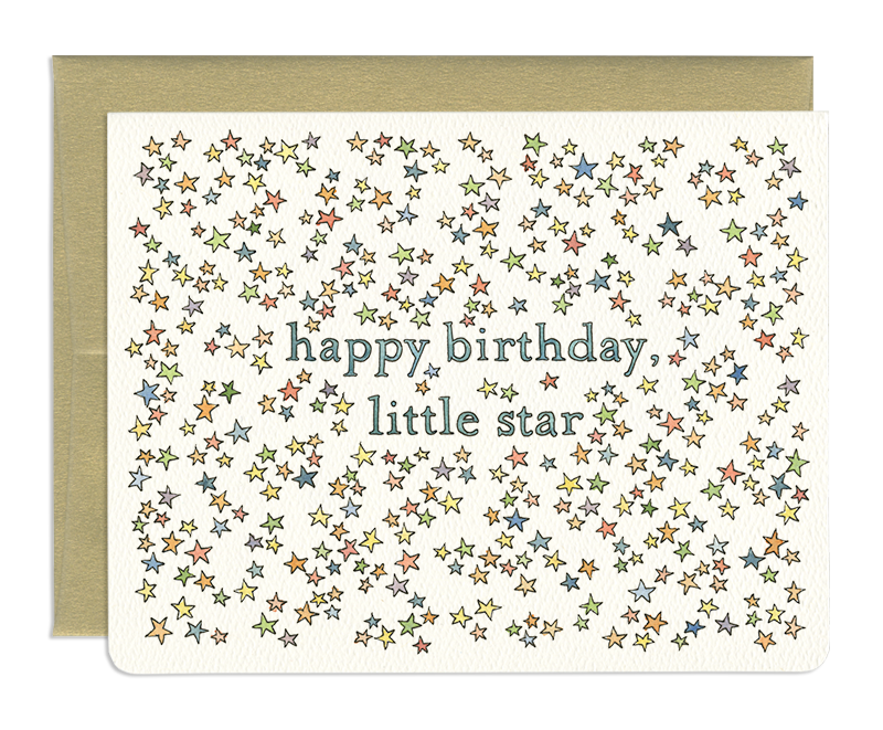 Little Star Birthday Card