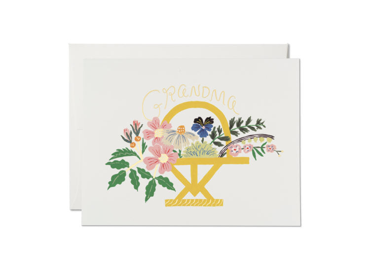 Grandma Gold Foil Bouquet Card