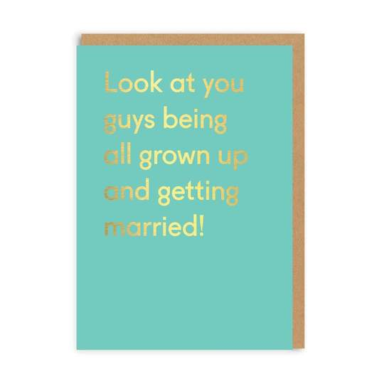 Grown Up and Getting Married Card