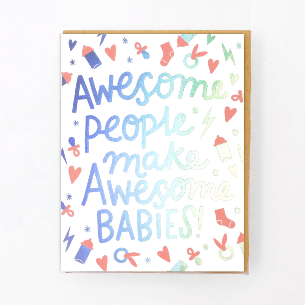 Awesome People Baby Card