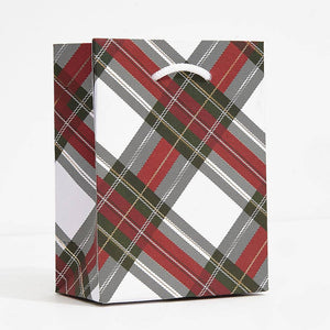 Holiday Plaid Gift Bag
