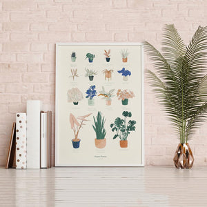 12 x 18 House Plants Art Print