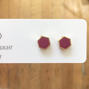 Hexagon Brass Studs