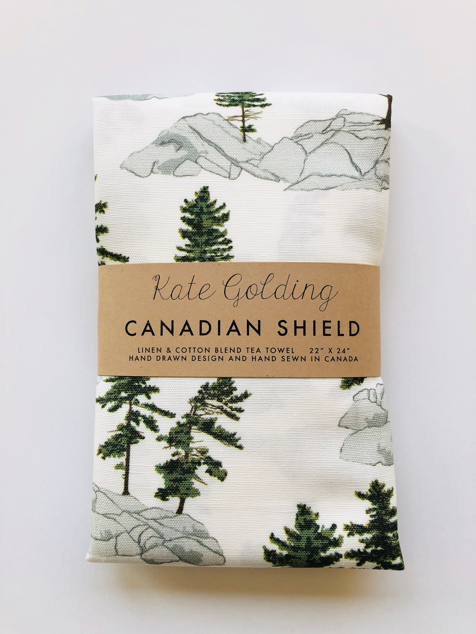Canadian Shield Tea Towel