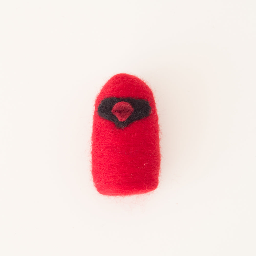 Felted Cardinal Ornament