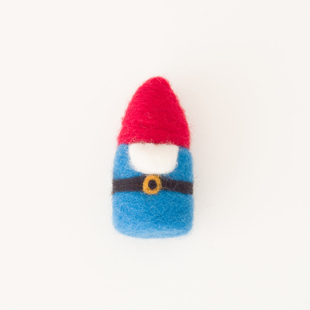 Felted Gnome Ornament