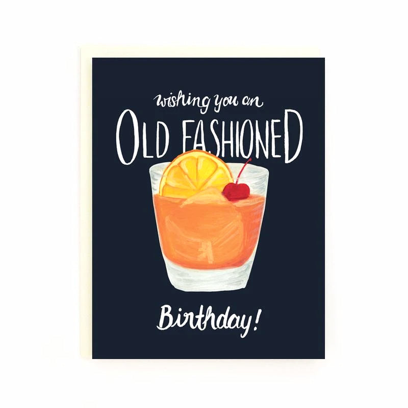 Old-Fashioned Birthday Card
