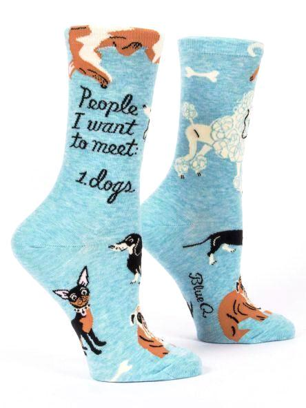 People I Want To Meet. Dogs Crew Socks