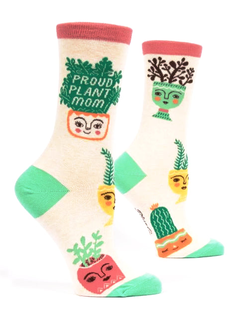 Proud Plant Mom Crew Socks