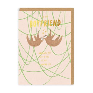 Sloth Boyfriend Card