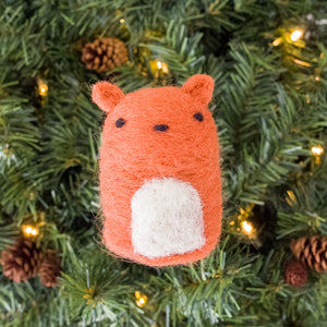 Felted Squirrel Ornament