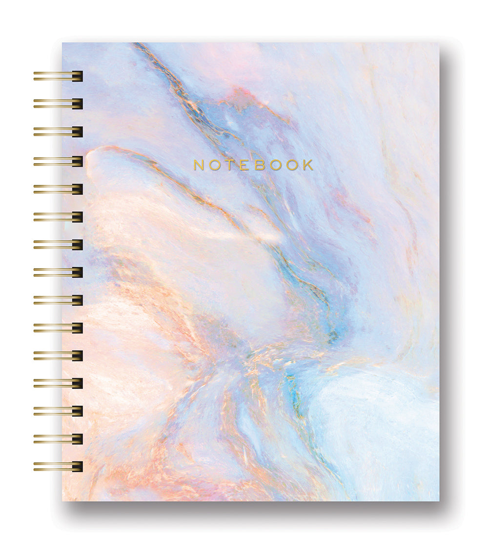 Swirled Marble Tabbed Spiral Notebook