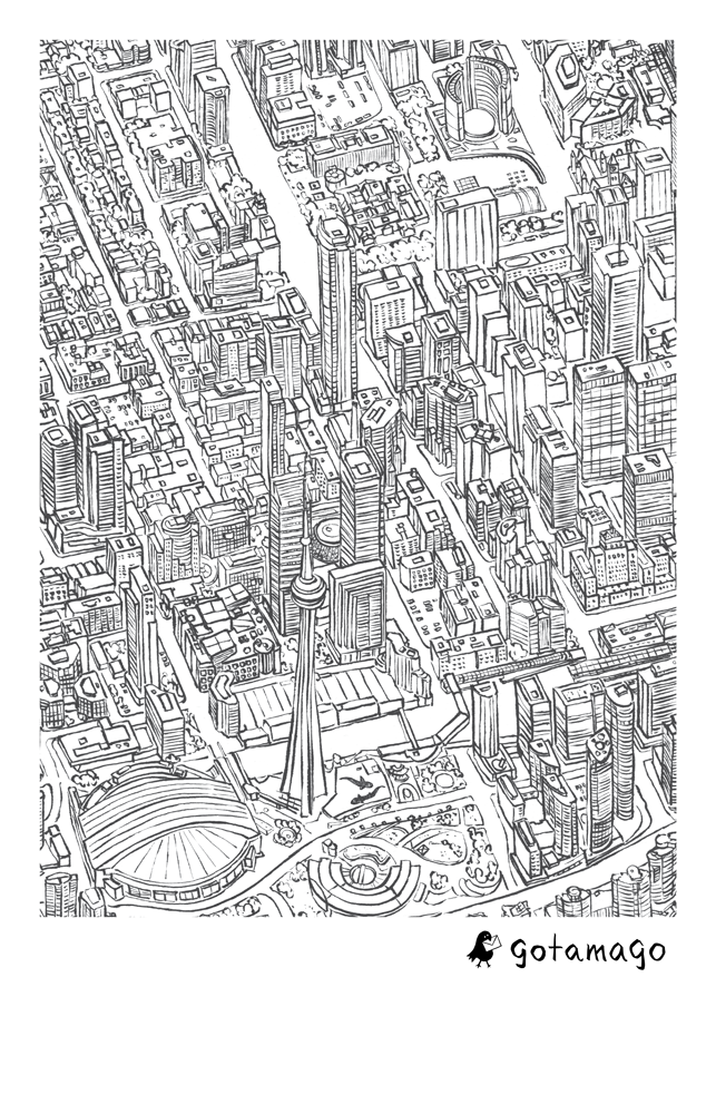 Toronto Lines Tea Towel
