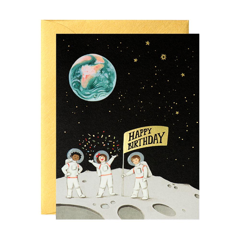 Astronauts Birthday Card