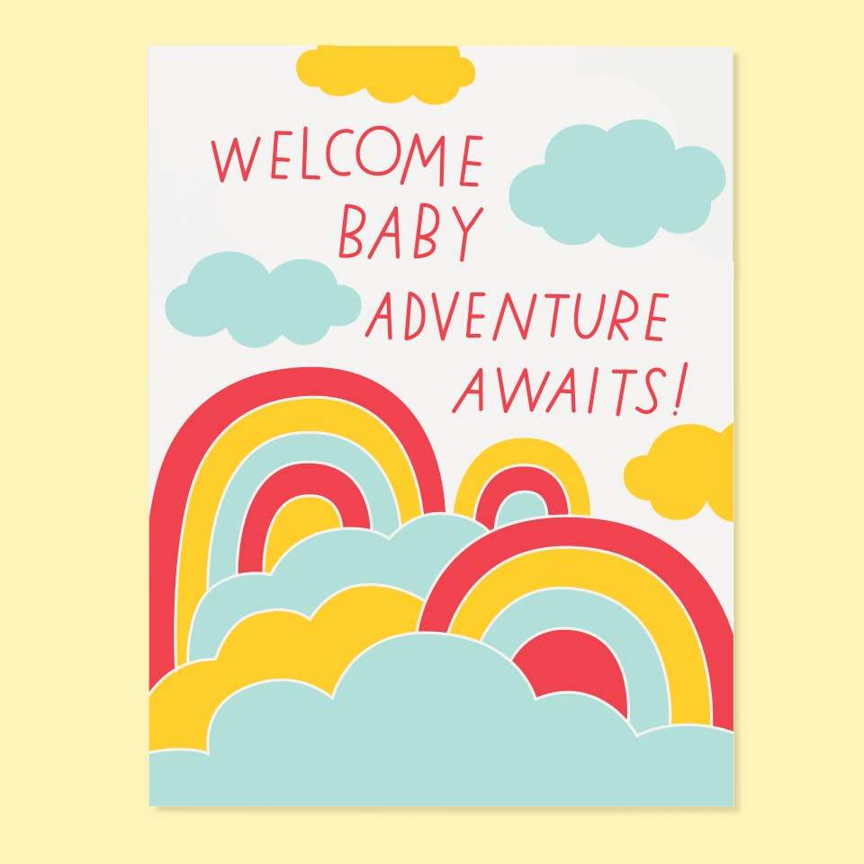 Welcome Baby Adventure Awaits Card