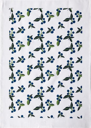 Wild Blueberries Tea Towel