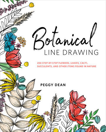 Botanical Line Drawing Book