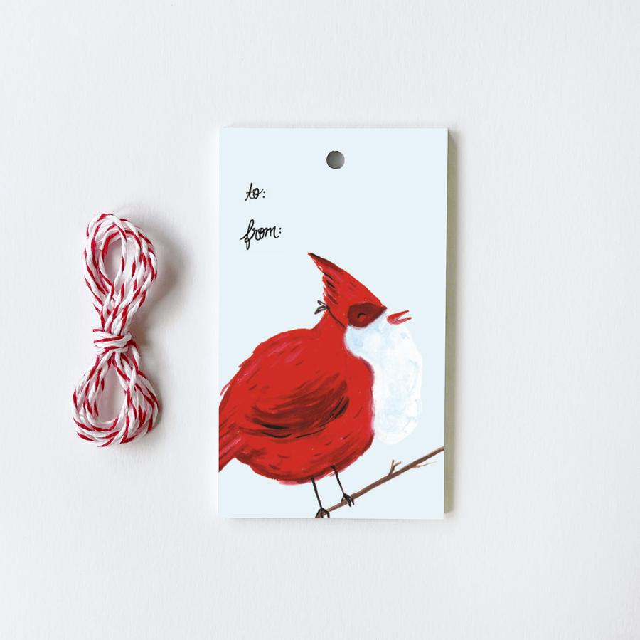 Holiday Birds Gift Tags