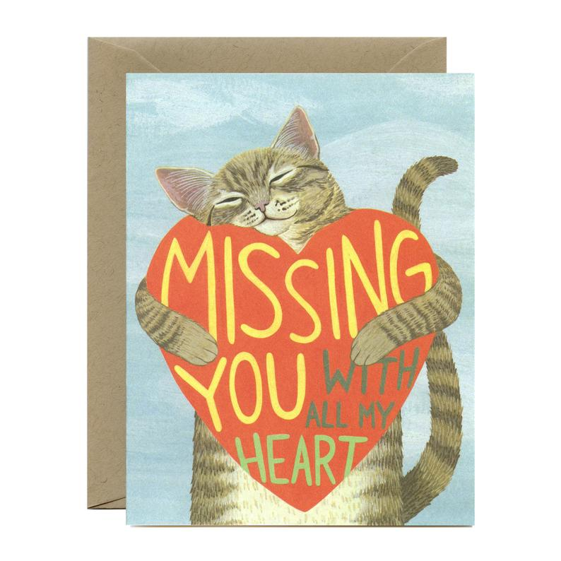 Miss You With All My Heart Card