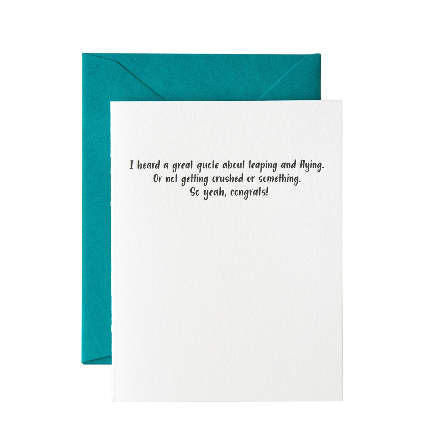 Leaping Quotes Congrats Card