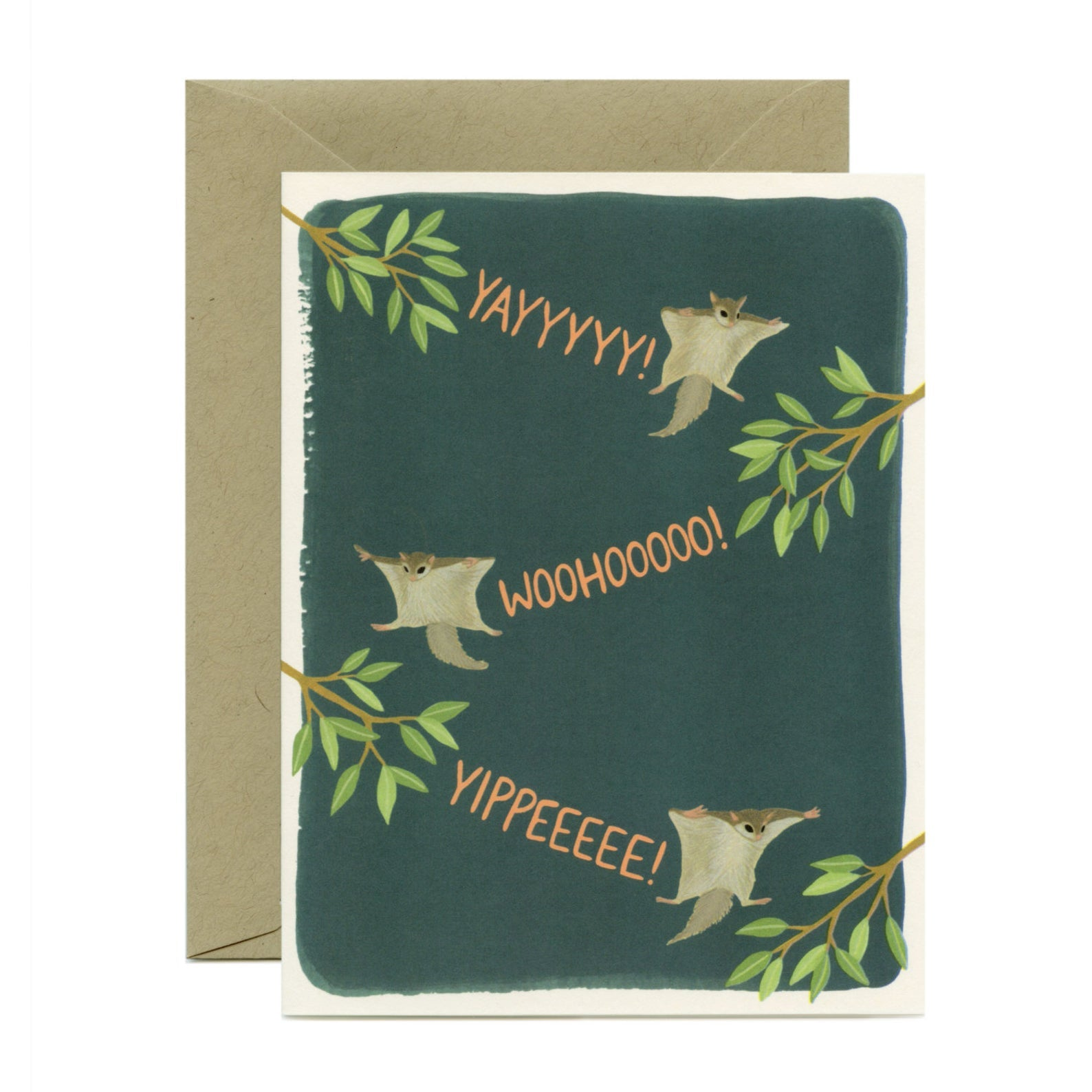 Flying Squirrel Congrats Card