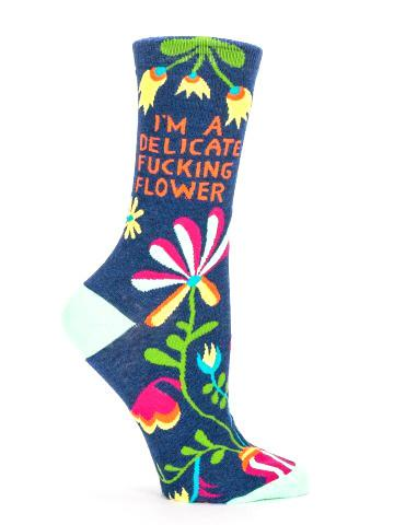 Delicate Flower Crew Socks