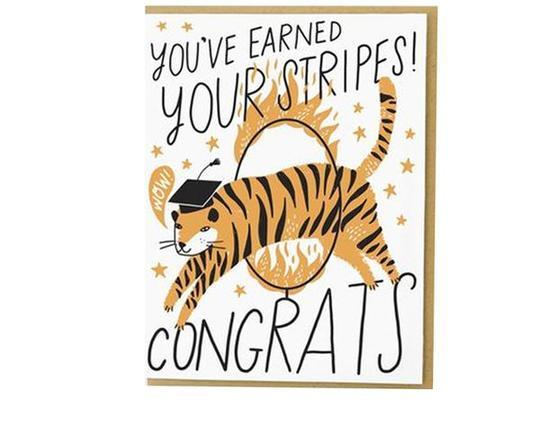 Earned Stripes Grad Tiger Card