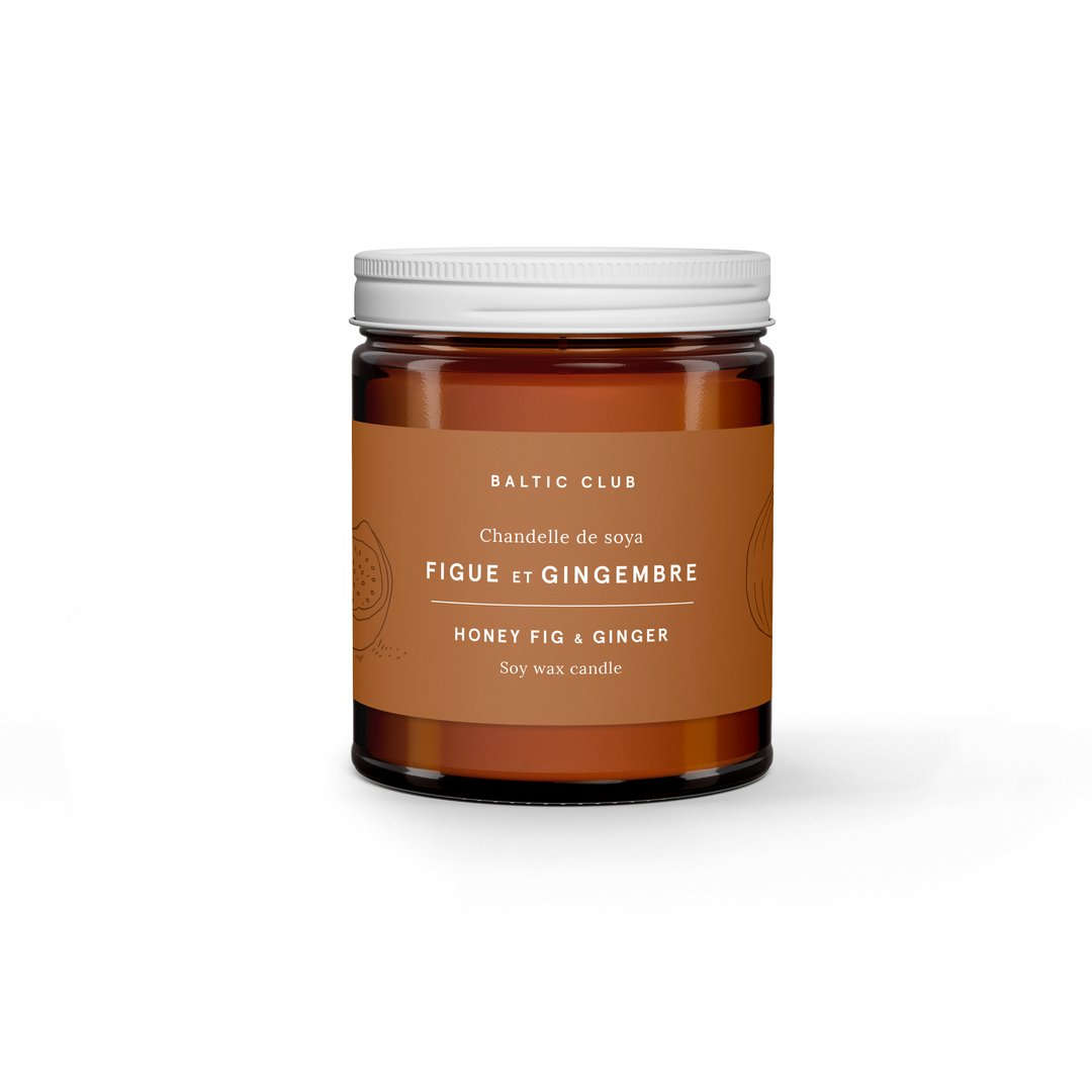 Honey Fig + Ginger Baltic Club Candle