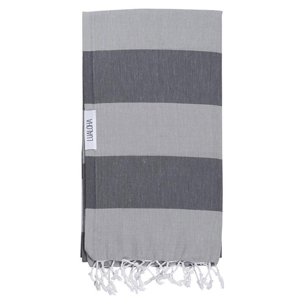 Lt. Grey + Charcoal Turkish Towel