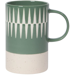 Etched Ceramic Mug