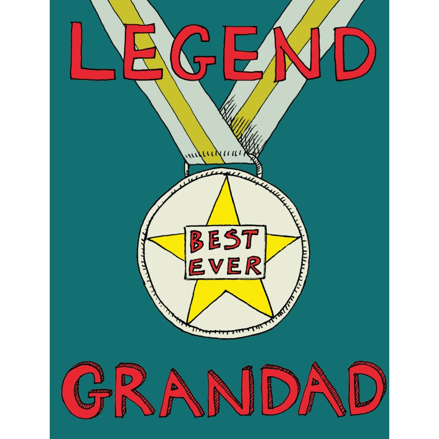 Legend Grandad Card