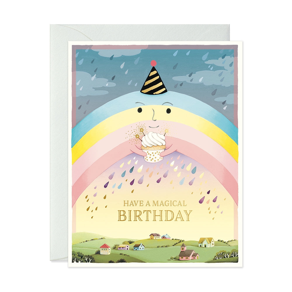 Rainbow Magical Birthday Card