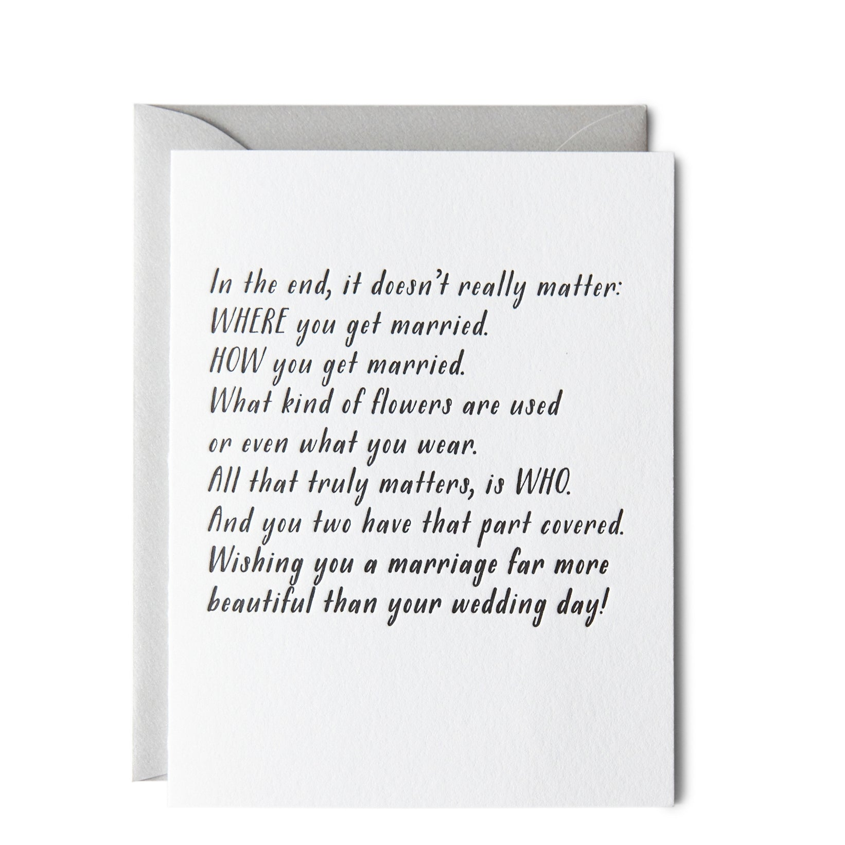 Doesn't Matter Where Wedding Card