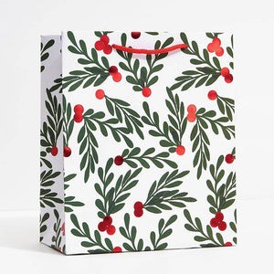 Holly Red Berries Gift Bag
