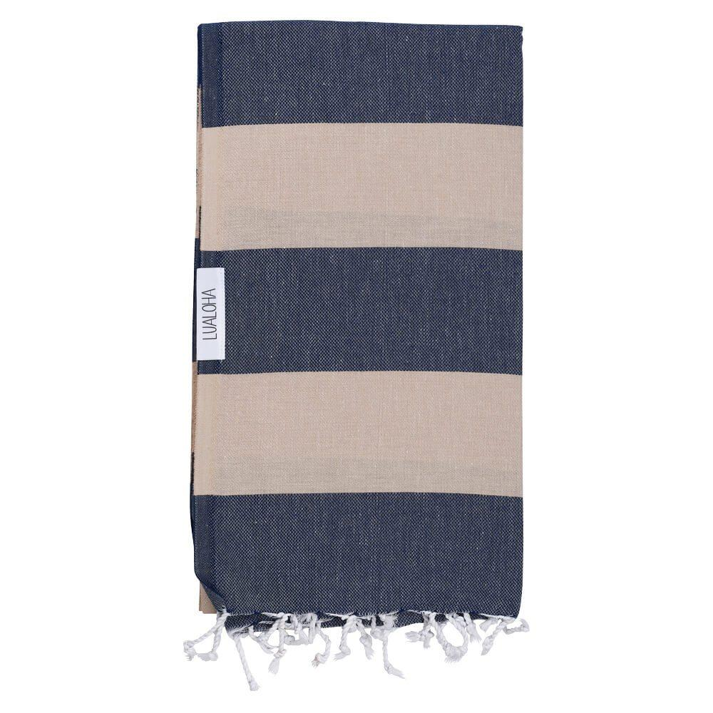 Navy + Sand Turkish Towel