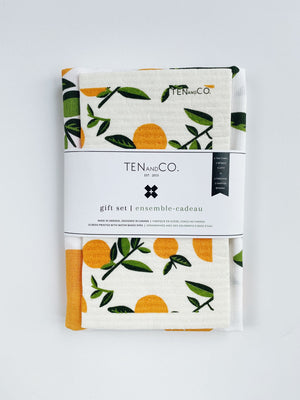 Tea Towel + Swedish Cloth Gift Set