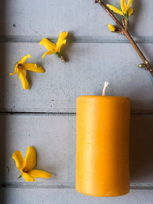 Smooth Beeswax Pillar Candle