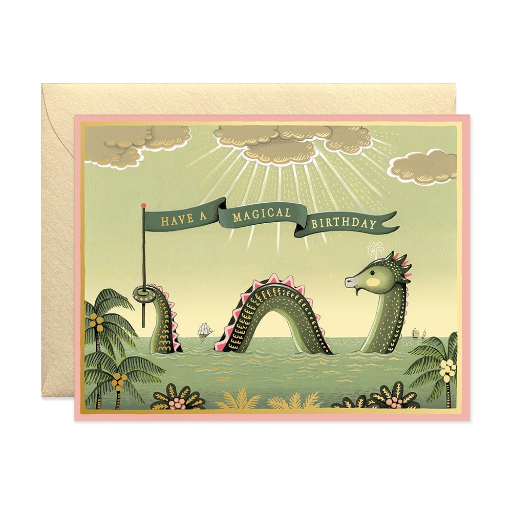 Sea Monster Birthday Card