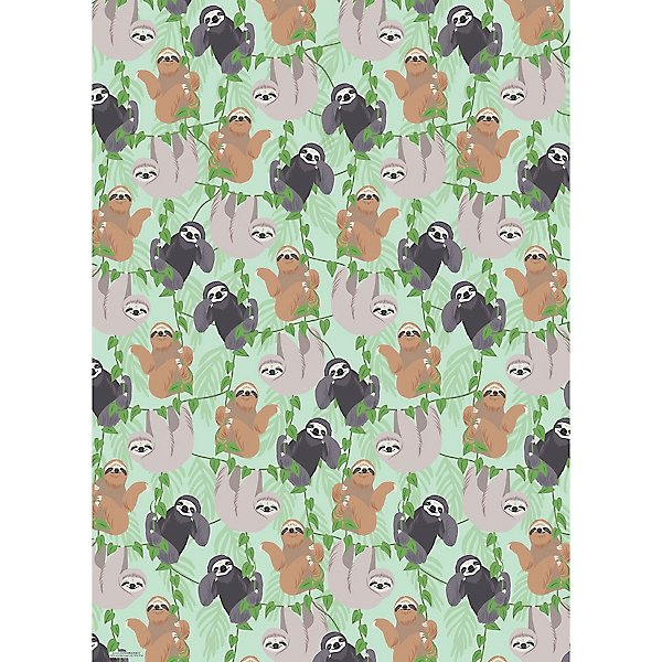 Sloths On Vines Wrap Roll