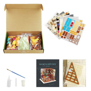 Study Room DIY Miniature House Kit