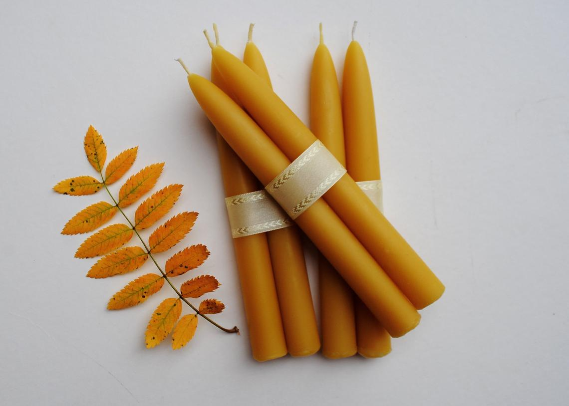 Beeswax Tapers Set/2
