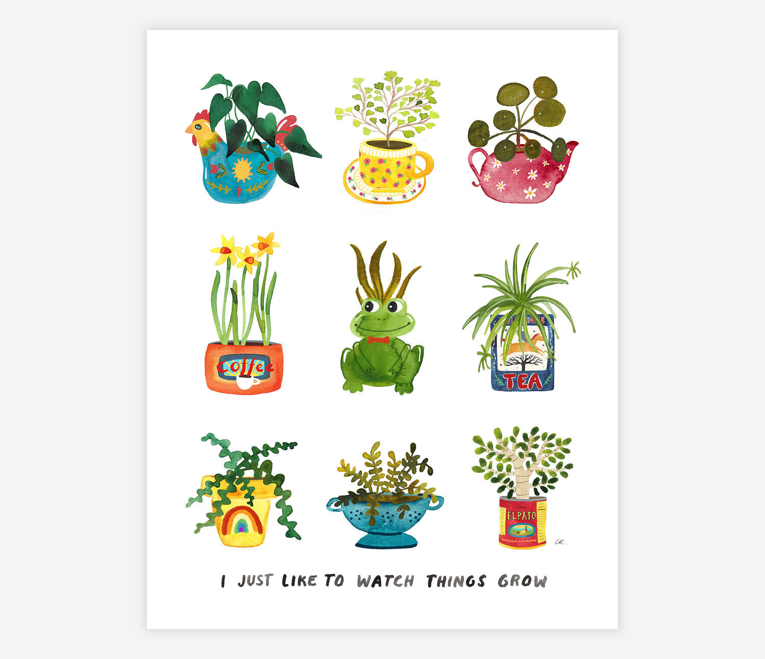 Watch Things Grow Art Print